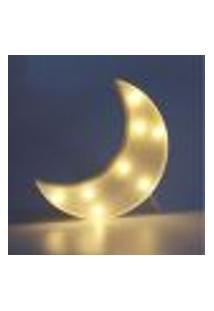 Luminária Led Abajur Luz Decoracão Modelo Lua Branca