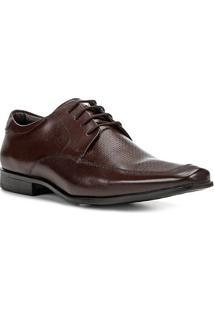 Sapato Social Couro Shoestock Textura Masculina