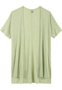 Casaco Básico Feminino Em Viscose Verde