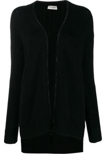 Saint Laurent Cardigan College - Preto