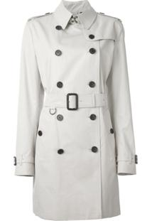 Burberry Trench Coat Com Cinto - Neutro