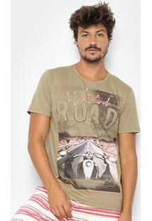 Camiseta Kohmar Westland Road Masculina - Masculino-Verde Militar