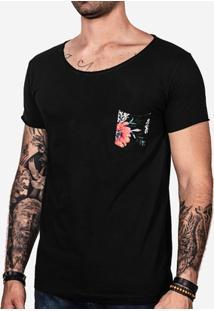 Camiseta Hermoso Compadre Bolso Estampado Masculina - Masculino