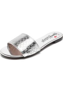 Rasteira Moleca Metalizada Prata