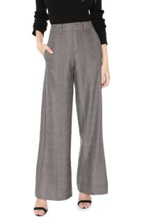 Calça Calvin Klein Pantalona Príncipe De Gales Marrom