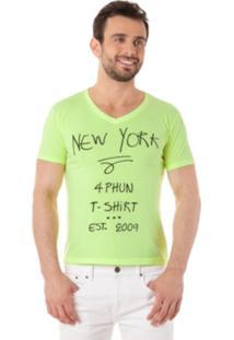 Camiseta 4Phun New York Verde