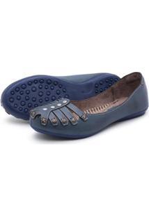 Sapatilha Feminina Top Franca Shoes - Feminino-Marinho