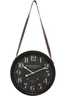 Relógio De Parede- Preto & Branco- Ø40X6Cm- Mabrmabruk