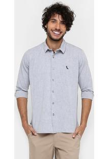 Camisa Reserva Regular Mesclada Manga Longa - Masculino