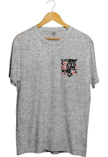 Camiseta Bsc Dark Flower Pocket - Masculino