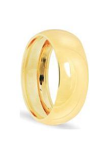 Aliança Em Ouro 18K Côncava Oca - As0697 Dourado