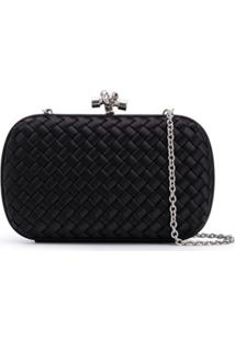 Bottega Veneta Clutch Chain Knot - Preto