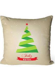 Capa De Almofada Love Decor Avulsa Decorativa Feliz Natal - Off-White - Dafiti
