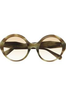 Gucci Eyewear Óculos De Sol Redondo Gg0797S - Marrom