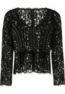 Dolce & Gabbana Blusa Renda - Preto