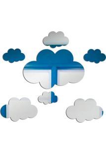 Espelho Love Decor Decorativo Nuvens ÚNico - Prata - Dafiti