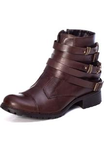 Bota Feminina London Chocolate - Tricae