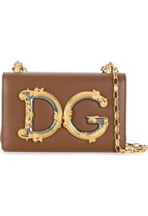 Dolce & Gabbana Bolsa Transversal Dg Girls - Marrom
