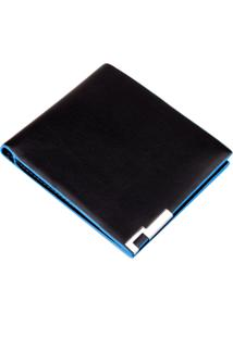 Carteira Divanet Style Preto E Azul