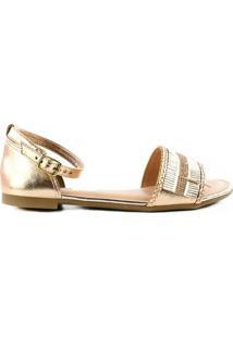 Sandália Dakota Z - Feminino-Ouro Rosa