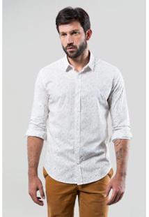 Camisa Pf Reserva Folhagem Bicolor Masculina - Masculino-Branco