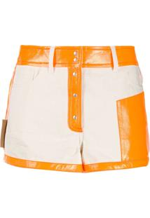 Courrèges Shorts Bicolor - Neutro
