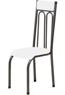 Cadeira Marcheli Anatômica 0.120 Estofada Craqueado/Branco