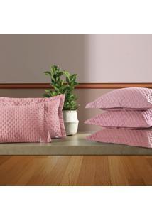 Porta Travesseiro Altenburg Frissom Ultrawave New Poli'Ster Flamingo Rosa - 50Cm X 70Cm Rosa