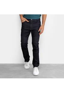 Calça Jeans Slim Fatal Detalhe Costura Masculina - Masculino-Azul Escuro