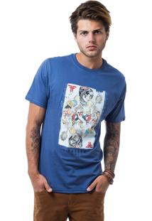 Camiseta Fallen Queen Of Hearts Azul