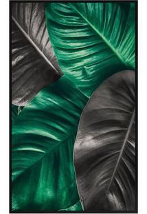 Quadro Decorativo Folhas- Preto & Verde- 60X80Cmarte Prã³Pria