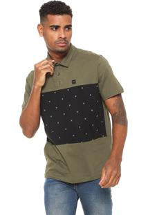 ... Camisa Polo Oakley Skull Block Verde 851efc85c989e