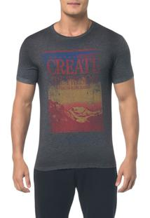 Camiseta Ckj Mc Estampa Create - Preto - Pp