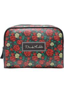 Necessaire Frida Kahlo Colored Flowers 23,5 X 6,5 X 17 Cm