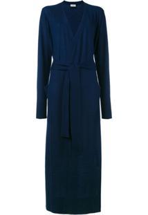 Le Kasha Cardigan De Cashmere Longo - Azul