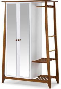 Armario Multiuso Stoka 2 Portas Branco Estrutura Amendoa 169Cm - 33134 - Sun House