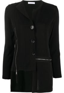 Stagni 47 Cardigan Assimétrico Com Botões - Preto