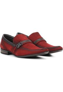 Sapato Social Couro Rafarillo Recife - Masculino-Vermelho