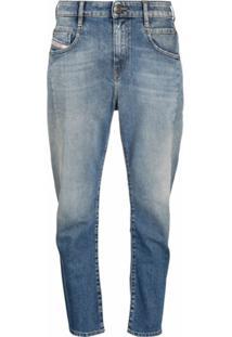 Diesel Calça Jeans Boyfriend Fayza - Azul