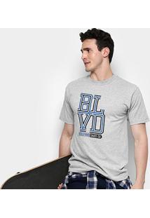 Camiseta Boulevard Skate Co. Weave Stack Masculina - Masculino-Cinza