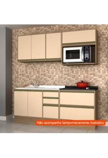 Cozinha Compacta Safira 6 Pt 5 Gv Capuccino E Avelã