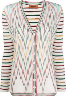 Missoni Zigzag Striped Cardigan - Branco