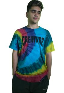 Camiseta Creature Shredded Logo Tie Dye