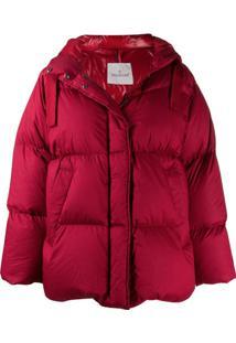 Moncler Oversized Puffer Jacket - Vermelho