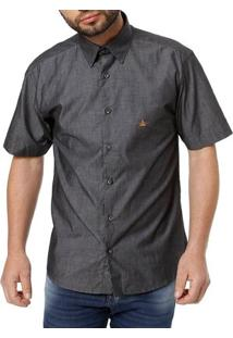 Camisa Manga Curta Masculina Preto