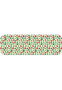 Passadeira Love Decor Wevans Pinheiros De Natal Verde - Kanui