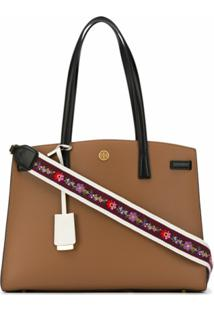 Tory Burch Bolsa Transversal Com Alça Walker Colour-Block - Marrom