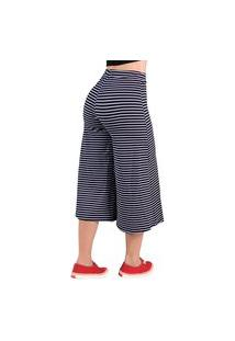 Calça Pantacourt Listrada Feminina - Estampas Sortidas