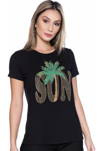 T-Shirt Carla Bergamask Sun Com Brilho