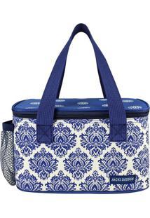 Bolsa Térmica Abstrata- Azul & Branca- 13X21,5X13Cmjacki Design